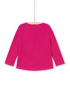 T-shirt manches longues fuchsia motif zèbre enfant fille MATUTEE1 / 21W901K3TMLD312