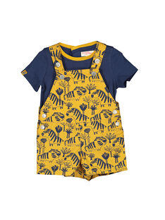 Ensemble salopette tee-shirt bébé garçon FUBAENS / 19SG1061ENS107