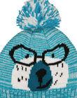 Bonnet à pompon avec motif ours.  GYOTUBON / 19WI02Q1BONC217