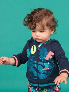 Gilet bleu marine bébé garçon LUBONGIL / 21SG10W1GIL717