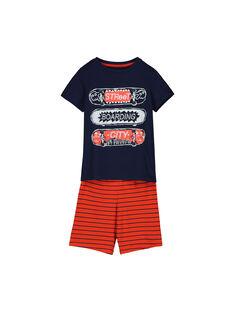 Pyjama short en coton garçon FEGOPYCSKA / 19SH1295PYJ070