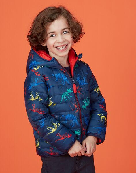 Doudoune réversible enfant garçon imprimée dinosaure KOGROBLOU1 / 20W902J2BLO705