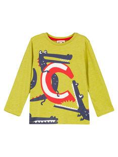 Tshirt Manches Longues Jaune Chiné GOJOTICHI5 / 19W902L1D32B111