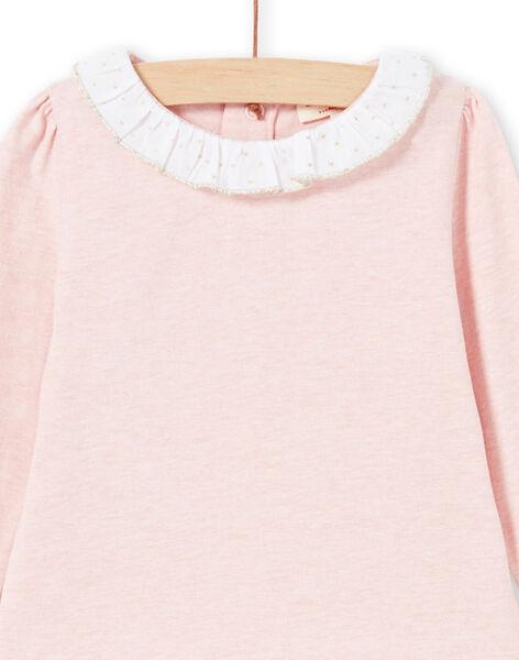 T-shirt rose et blanc bébé fille MIJOBRA2 / 21WG0914BRAD314