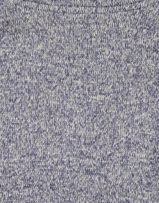 Pull matière technique intérieur moutonné Gris  GOJOPULTEK1 / 19W902L3D2E090