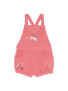 Salopette courte rose bébé fille JIDUSAC / 20SG09O1SACD324