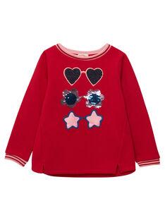 Sweat Shirt Rouge JAGRASWEA / 20S901E1SWE050