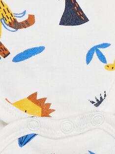 Body manches longues layette garçon imprimé dinosaures KEGABODMUL / 20WH1497BDL001