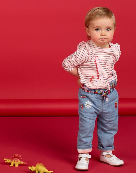 Jean bébé fille avec ceinture LICANPAN / 21SG09M1PANP272