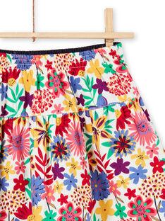 Jupe réversible à fronces imprimé fleuri coloré enfant fille MAMIXJUP2 / 21W901J1JUP009