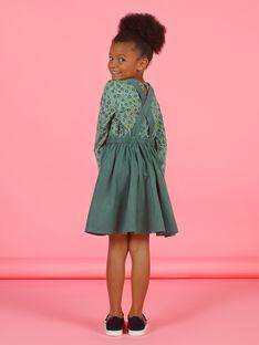 Robe salopette kaki enfant fille MAKAROB4 / 21W901I4ROB626