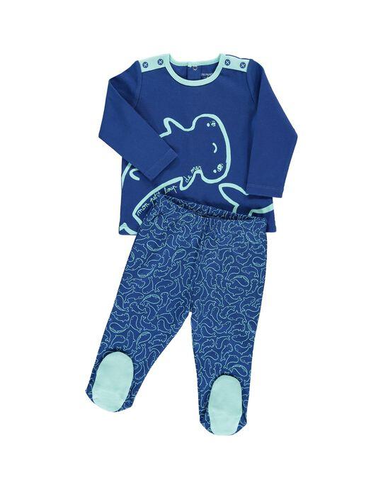 Pyjama en coton bébé garçon CEGUPYJMER / 18SH1451PYJ217