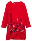 robe bi matière  panneau en velours brodée  GATRIROB2 / 19W901J3ROBF512