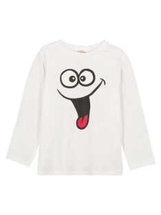 Tshirt Manches Longues col Rond Ecru GOJOTISLU2 / 19W90245D32001