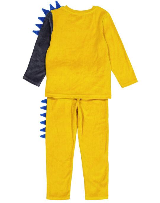 Pyjama ocre en velours enfant garçon GEGOPYJERI / 19WH12N7PYJB107