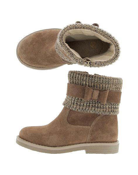 Boots en cuir fille DFBOOTCOT2 / 18WK35TFD0D080