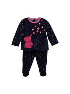 Pyjama en velours bébé fille FEFIPYJANI / 19SH1342PYJ099