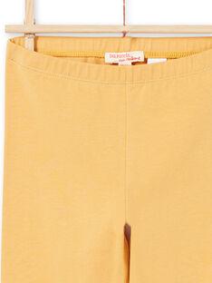 Legging jaune enfant fille MYAJOLEG2 / 21WI0112CALB106