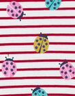 Pyjama enfant fille rayé et imprimé fleuri KEFAPYJNEL / 20WH11I2PYJ001