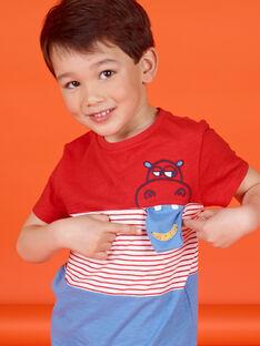 Tee Shirt Manches Courtes Rouge LOVITI5 / 21S902U6TMC505