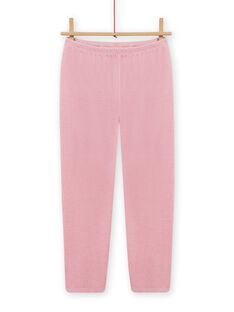 Pyjama rose en velours motif renard enfant fille MEFAPYJCLA / 21WH1196PYJ313