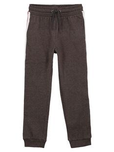 Pantalon de Jogging Gris Anthracite Chiné GOJOJOB2 / 19W90235D2A944