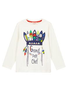 Tshirt manches Longues Ecru Animé GOVIOTEE3 / 19W902R3TML003