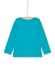 Tee Shirt Manches Longues Turquoise LAJOTEE4 / 21S90133D32C216
