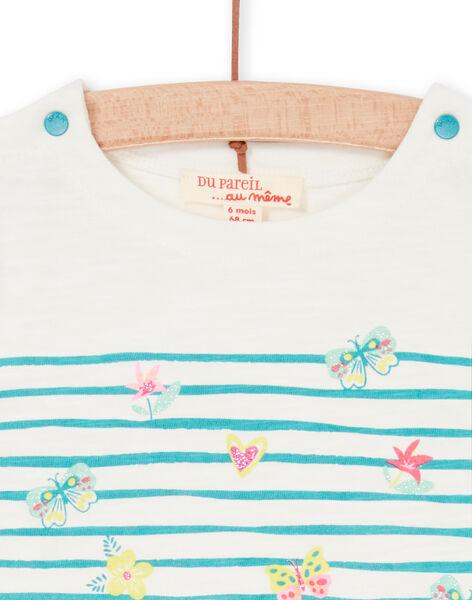 Tee Shirt Manches Courtes Ecru LIVERTI2 / 21SG09Q1TMC001