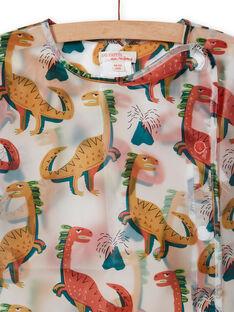 Tablier d'écolier transparent à imprimé dinosaure enfant garçon MYOCLATAB1 / 21WI02G1TAB961