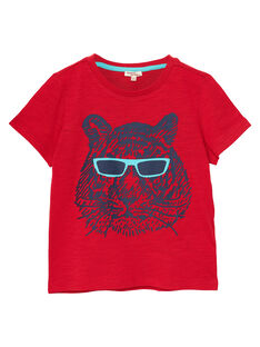 Tee Shirt Manches Courtes Rouge JOJOTI4 / 20S90242D31F505