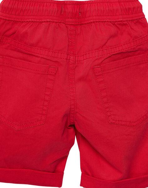 Bermuda garçon uni rouge JOJOBERMU5 / 20S902T6D25F505