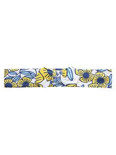 Bandeau bébé fille avec fleurs  bleues et jaunes JYITROBAN / 20SI09F1BAN000