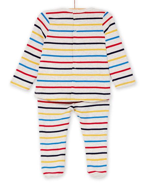 Pyjama layette garçon rayé motif zèbre KEGAPYJZEB / 20WH14B1PYJA010