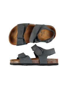 Sandale ville en cuir garçon FGNUGREY / 19SK36D4D0E940
