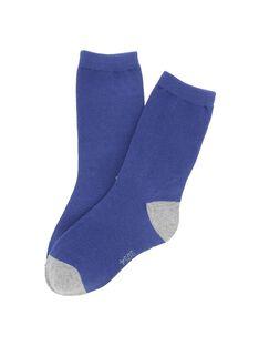 Chaussettes mi-hautes bicolores garçon DYOJOCHO10A / 18WI02J8SOQ208