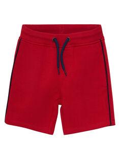 Bermuda molleton garçon basique rouge  JOJOBER4 / 20S90251D25F505