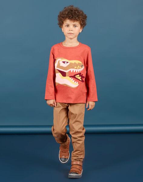 Pantalon marron clair enfant garçon MOPAPAN / 21W902H1PANI802