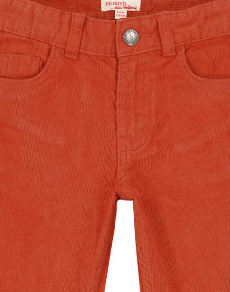 Pantalon En velours Brique Regular GOJOPAVEL8 / 19W902L5D2B408