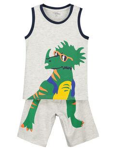 Pyjama short garçon dinosaure FEGOPYCTRI / 19SH12H5PYJJ906