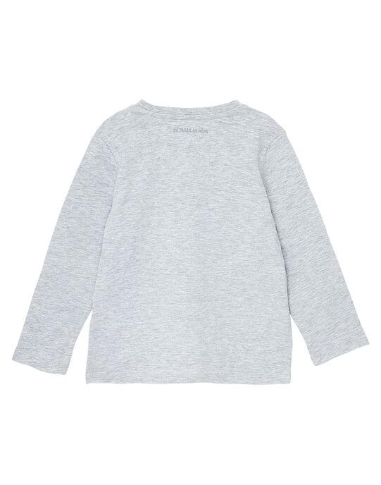 Tee shirt manches longues garçon gris chine JOESTEE3 / 20S90261D32J922