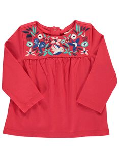 Tee-shirt manches longues bébé fille CIDETEE1 / 18SG09F1TMLF518
