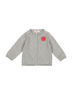 Gilet gris bébé fille FIJOCAR4 / 19SG0934CAR943