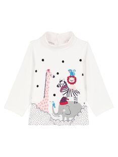Tee-shirt à manches longues col montant bébé fille GITRISOUP / 19WG09J1SPL001