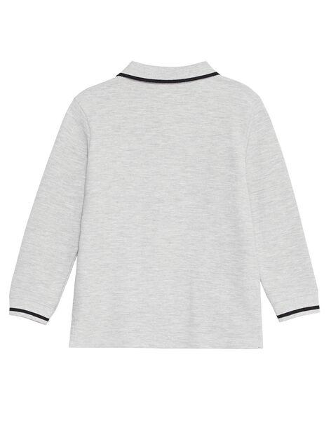 Polo gris chiné manches longues garçon KOJOPOL3 / 20W90253D2D943
