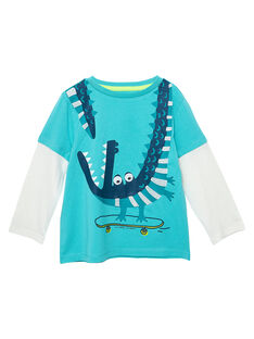 Tee Shirt Manches Longues Turquoise JOCLOTEE1 / 20S90211TML209