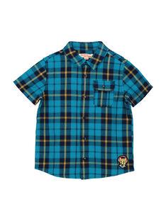 Chemise à carreaux manches courtes garçon FOTUCHEM / 19S902F1CHM210