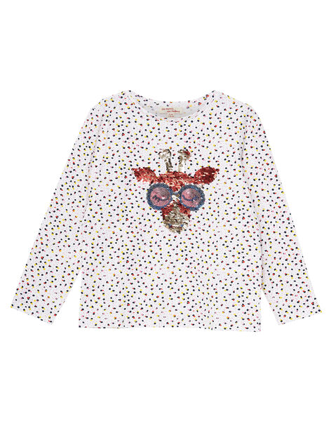 Tee Shirt Manches Longues Ecru JATROTEE2 / 20S901F2TML001