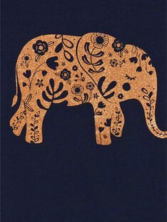 Tee Shirt Manches Courtes Bleu nuit LAJOTI4 / 21S90131D31C205