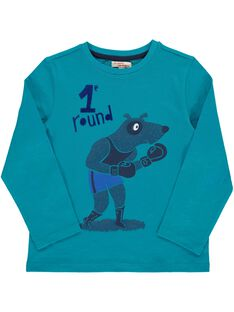 Tee Shirt Manches Longues Turquoise DOTRITEE5 / 18W902D5TMLC217